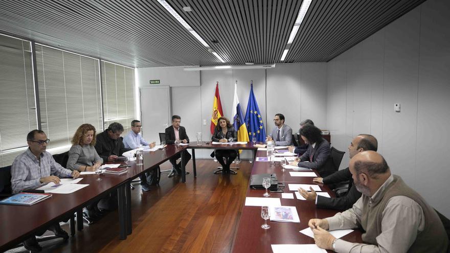 Reunión de la consejera de Empleo, Cristina Valido, con los agentes sociales para hacer balance de las inspecciones laborales, el viernes pasado