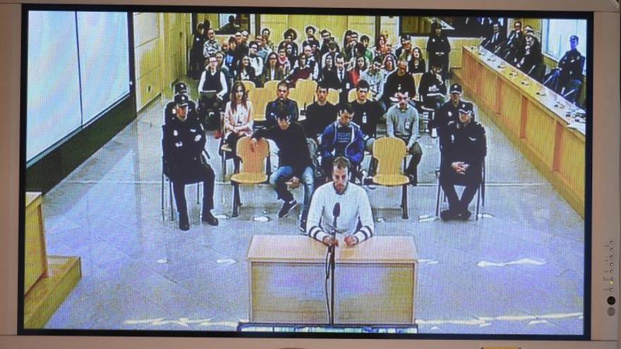 Uno de los acusados declara en el juicio sobre la agresión de Alsasua en la Audiencia Nacional