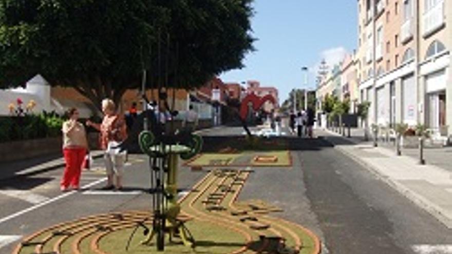 Calle de Breña Baja durante el Corpus.