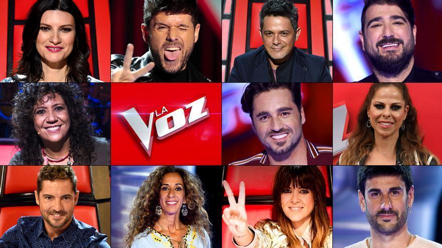 Elegidos los 12 coaches para las tres próximas ediciones de 'La Voz' en Antena 3