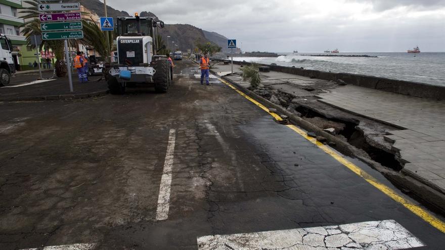 Imagen de archivo del litoral de San Andrés que la escollera protege