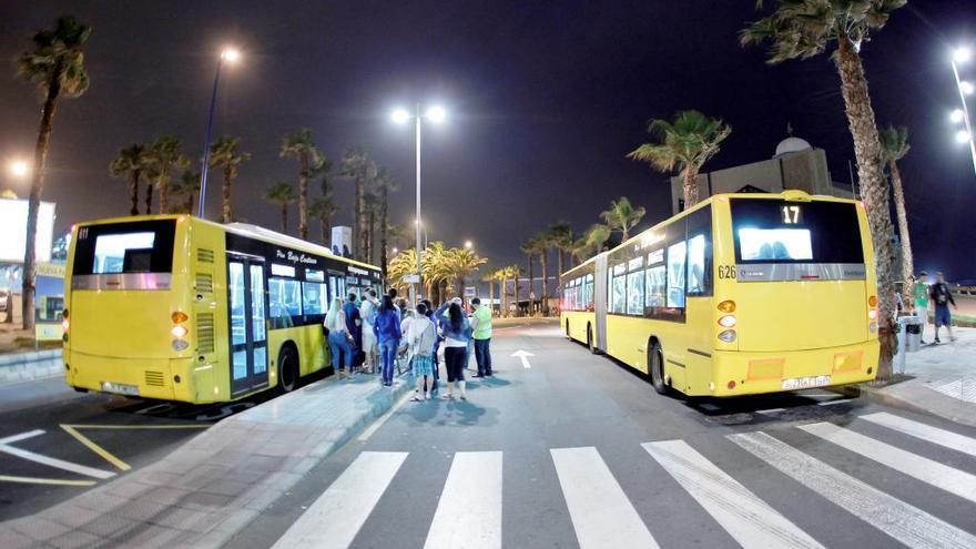 Guaguas nocturnas en Las Palmas de Gran Canaria
