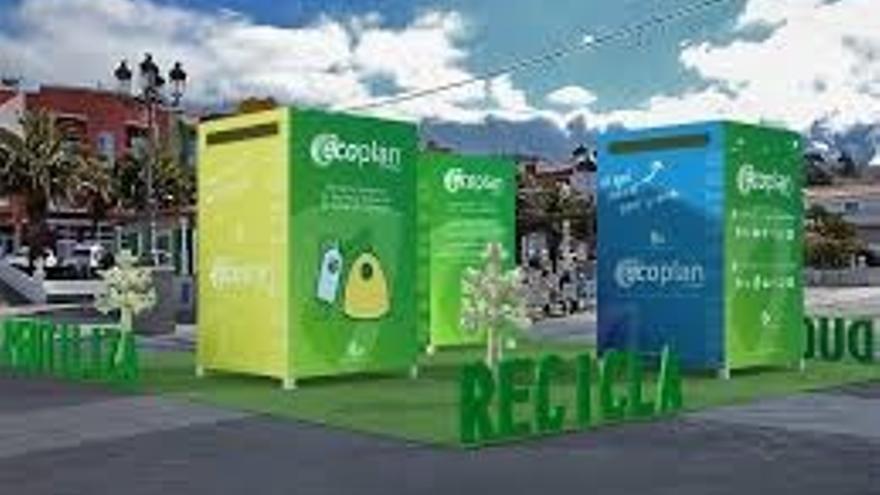 Contenedores de la campaña de recogida de residuos.