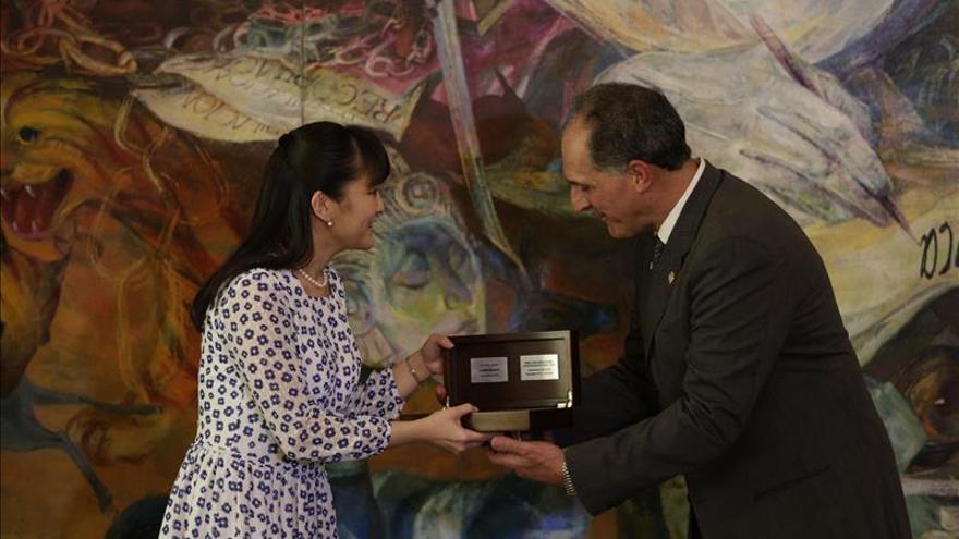 La princesa Mako cumple una jornada cultural en la capital de Honduras