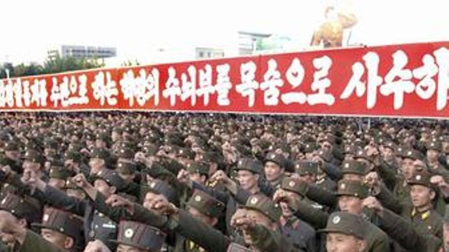 Soldados en Corea del Norte