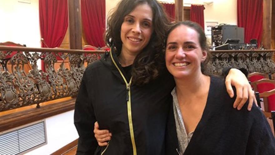 Gara Lorenzo y Saray Pérez.