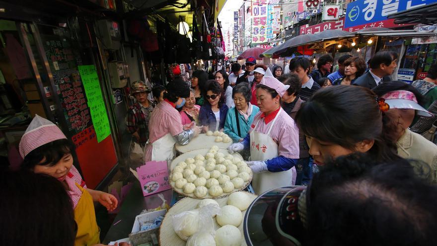 Un mercado en Seúl