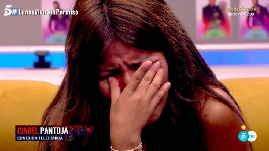 """Isabel Pantoja llama a Chabelita en directo para pedir su permanencia en GH VIP: """"Que todo el mundo la apoye"""""""