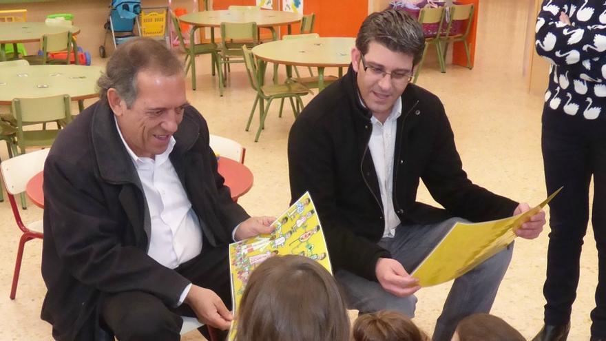 Miguel Soler, junto a Jorge Rodríguez, en su visita a Ontinyent