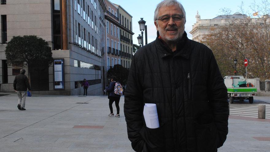 José Antonio Errejón, uno de los fundadores de Los Verdes en España y padre del líder de Más País, en Madrid este jueves.
