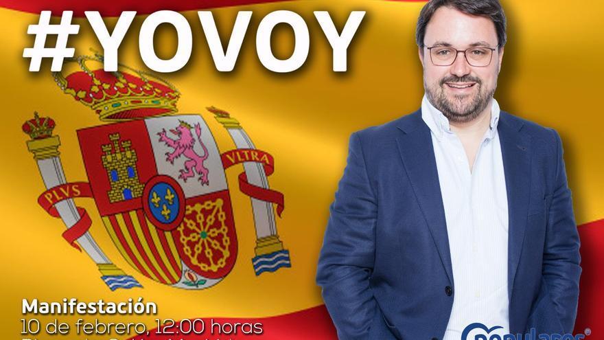 El líder del PP en Canarias, Asier Antona, anima en su cuenta de Twitter a acudir a la manifestación del domingo.