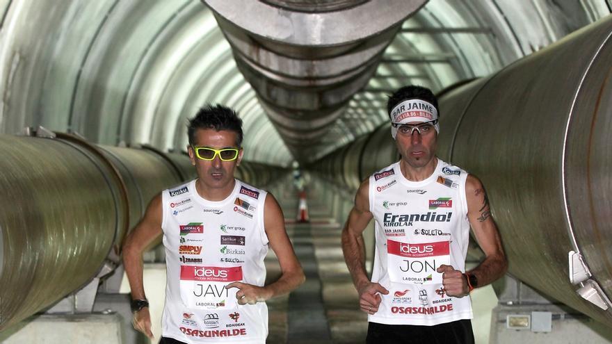 El sifón de la Universidad de Deusto acogerá este domingo un nuevo maratón solidario de Javier Conde y Jon Salvador