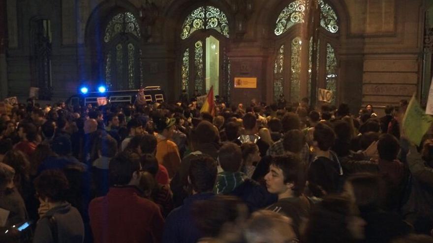 La manifestación concluye frente al Ministerio de Educación