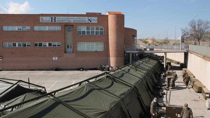 El hospital de campaña de Segovia.