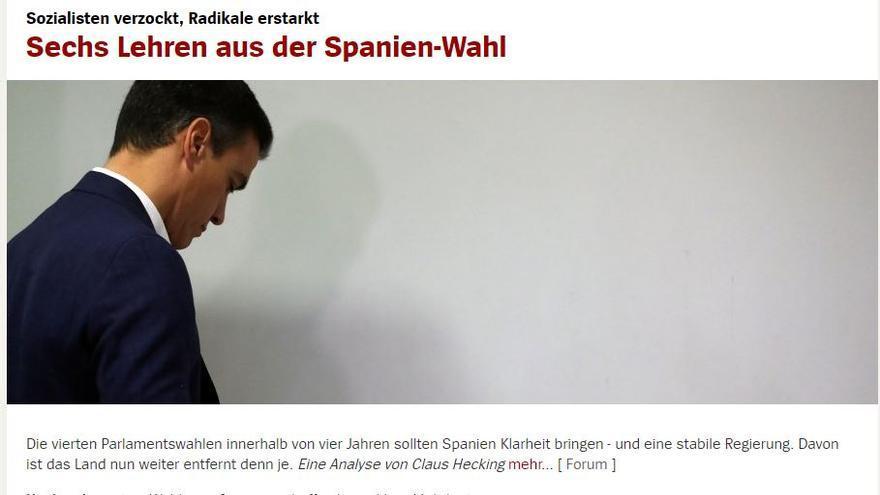 La web de Die Spiegel esta noche