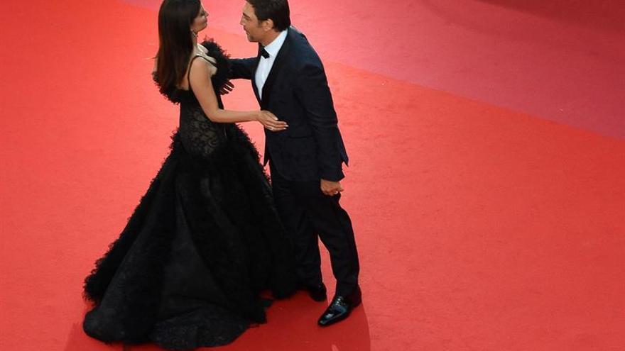 Penélope Cruz y Javier Bardem posan en la alfombra roja de Cannes 2018