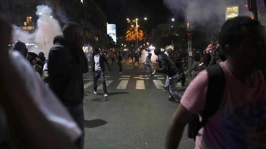 63 heridos en incidentes entre emigrantes etíopes y la policía en Tel Aviv