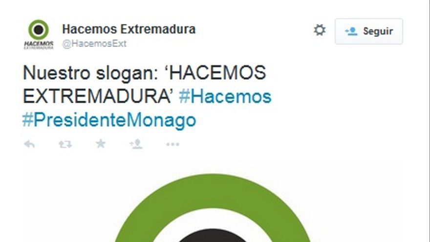 Logo de la campaña 'Hacemos Extremadura', del PP