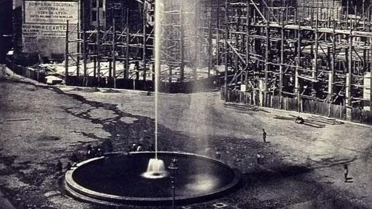Fuente de la Puerta del Sol instalada en 1860