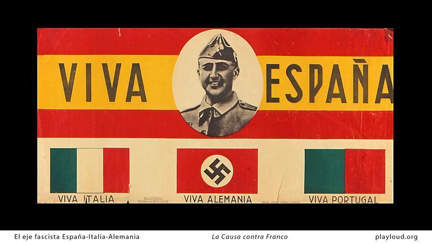 El eje fascista España-Italia-Alemania. Fotograma del documental 'La causa de Franco'