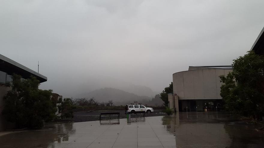 Imagen del jueves del entorno del Centro de Visitantes de La Caldera de El Paso. Foto: PARQUE NACIONAL.