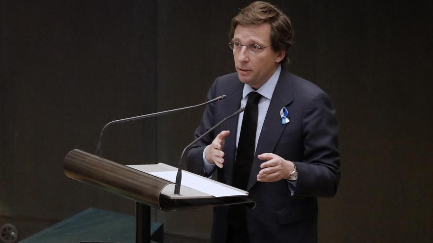 El alcalde José Luis Martínez-Almeida, durante un Pleno. Fotografía de archivo.