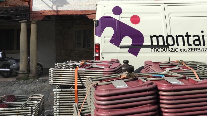 Montaje de Montai en Hondarribia este miércoles