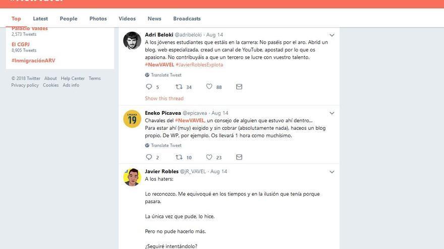 Captura de varios comentarios críticos con el modelo de negocio de Vavel tras la campaña #NewVavel.