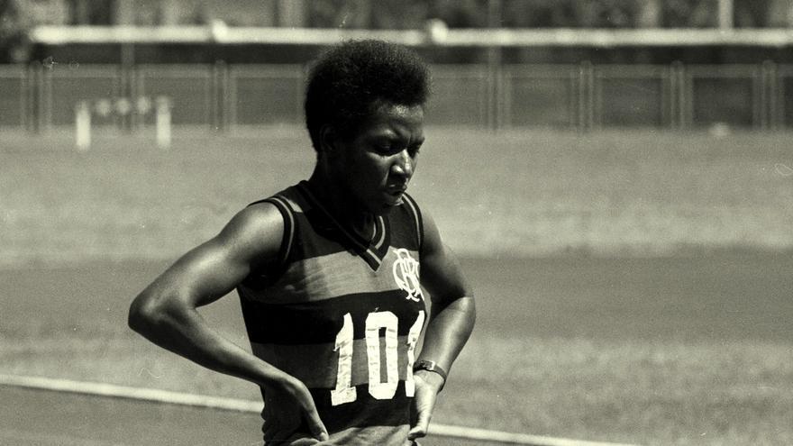 La atleta Irenice Rodrigues. Imagen: archivo de Memoria Viva.