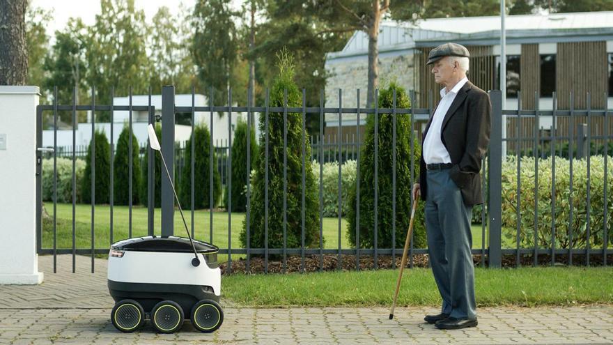 Un robot de reparto de Starship
