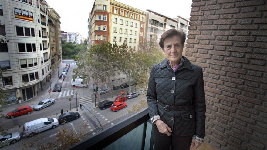 """Adela Cortina, filósofa y autora del libro """"Aporofobia, el rechazo al pobre"""", en la sede de la Fundación Etnor."""