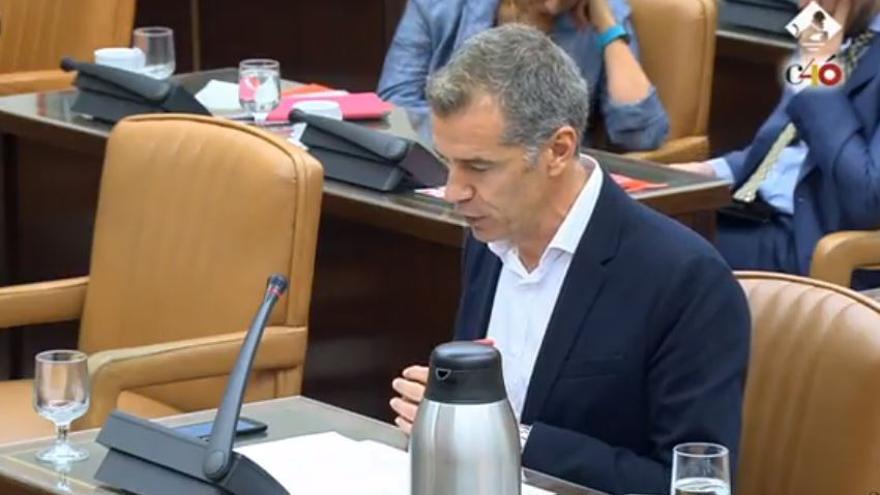 Toni Cantó, de Ciudadanos, en la comparecencia de Aznar