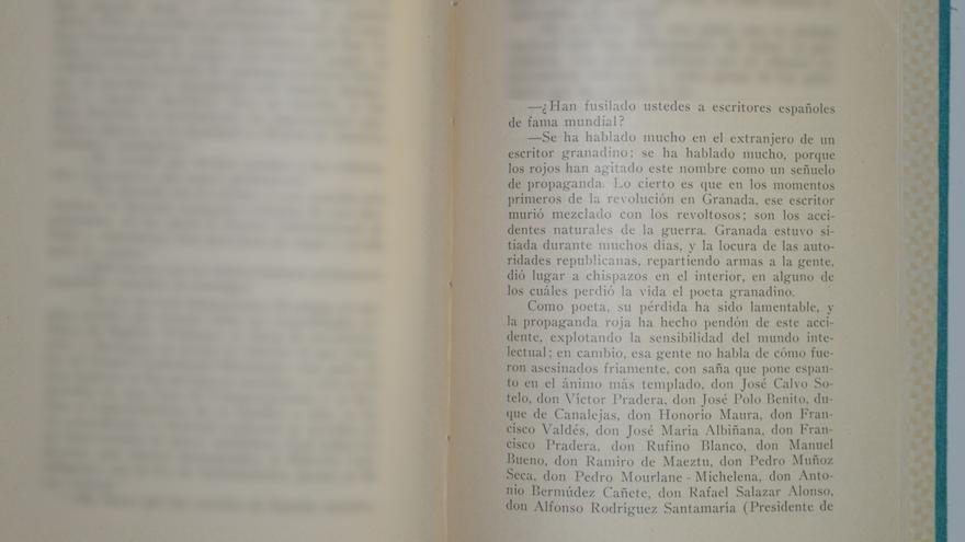 Franco, en un libro sobre el asesinato de Lorca