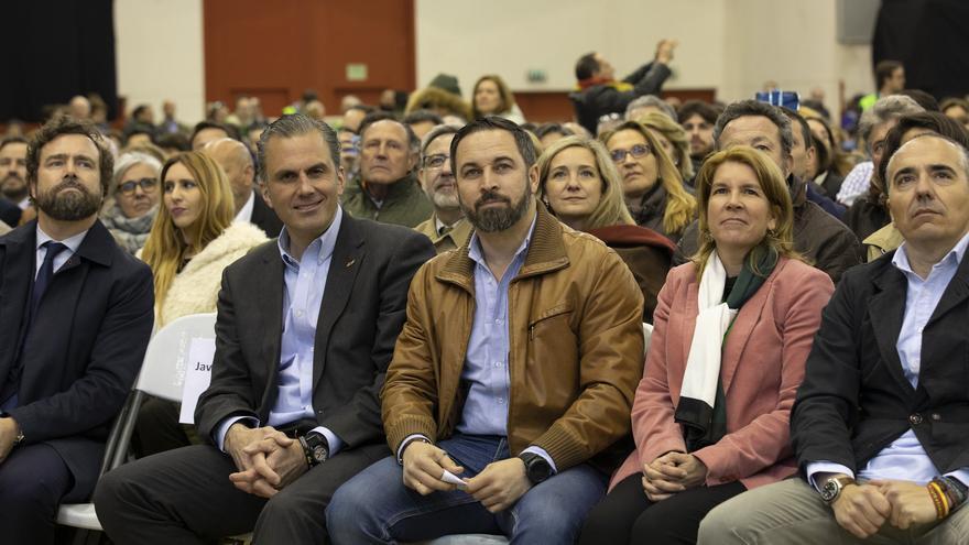 Abascal y Ortega Smirh en el mitin celebrado en Las Rozas