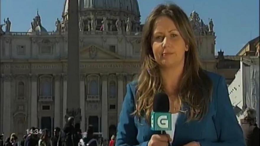 Equipo de la TVG en el Vaticano