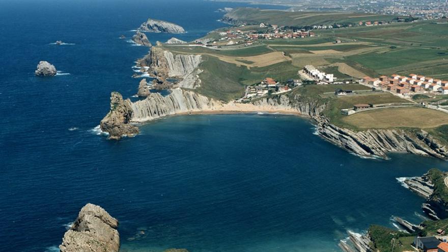 Vista aérea del municipio de Piélagos.
