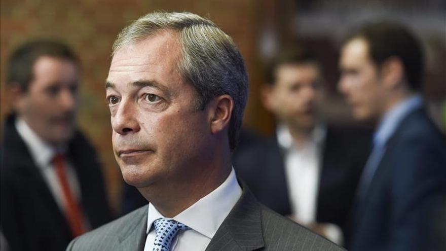 Farage tendrá su propia campaña en el referéndum sobre la salida británica de Unión Europea