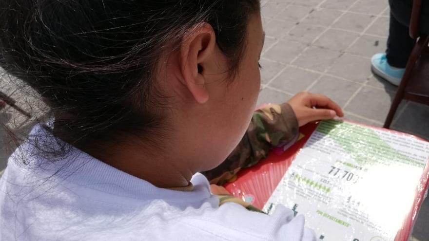 Una niña en el acto de protesta en Ciudad de Guatemala este 29 de mayo bajo el lema Niñas, No Madres.