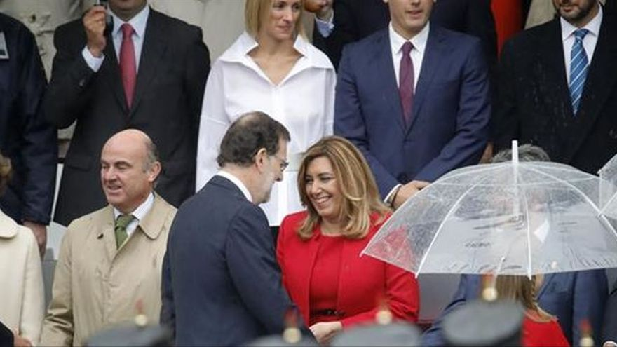 Mariano Rajoy y Susana Díaz el 12 de octubre.