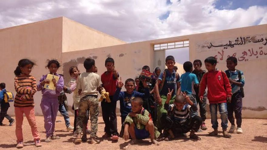 Sahara saharauis niños colegio escuela