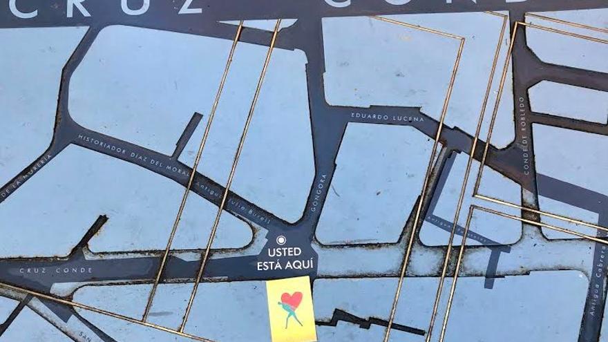 Postal en el mapa de Cruz Conde