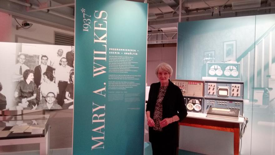 Mary Allen, en la inauguración de la exposición sobre las pioneras de la informática en el Heinz Nixdorf Museum alemán el año pasado.