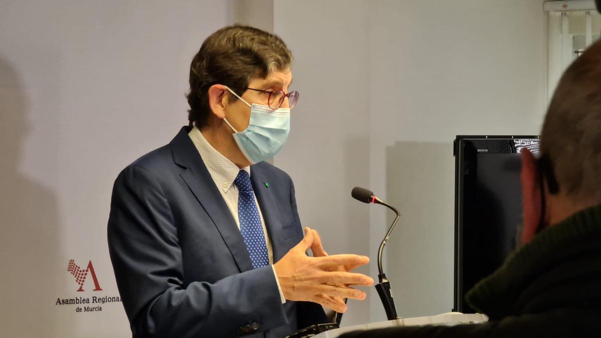 El exconsejero murciano de Salud, Manuel Villegas, que dimitió del cargo tras saberse que se vacunó fuera de protocolo