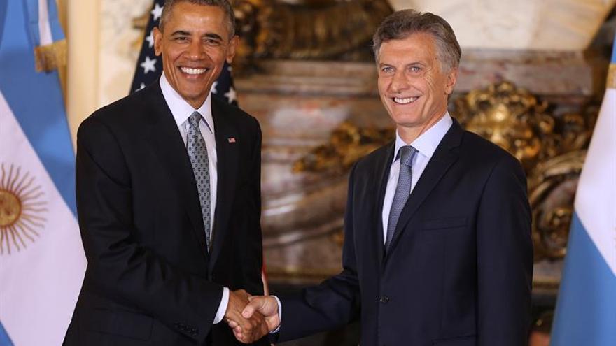 """Macri destaca el """"liderazgo inspirador"""" de Obama tras la reunión bilateral"""