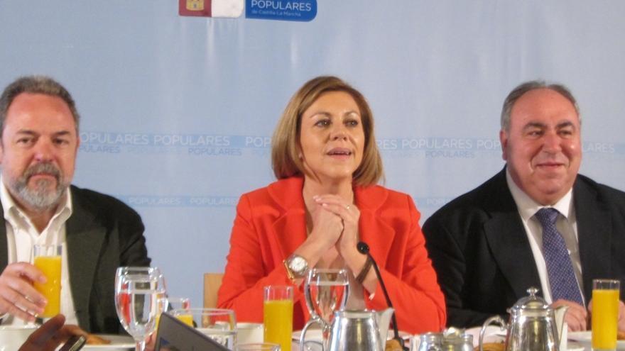 """Cospedal dice que en C-LM """"no ha habido ningún tema"""" relacionado con corrupción, dando ejemplo como pocas regiones"""