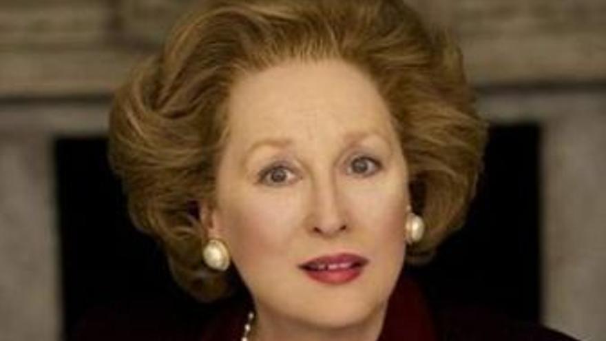 Streep, caracterizada como la política británica. (EUROPA PRESS)