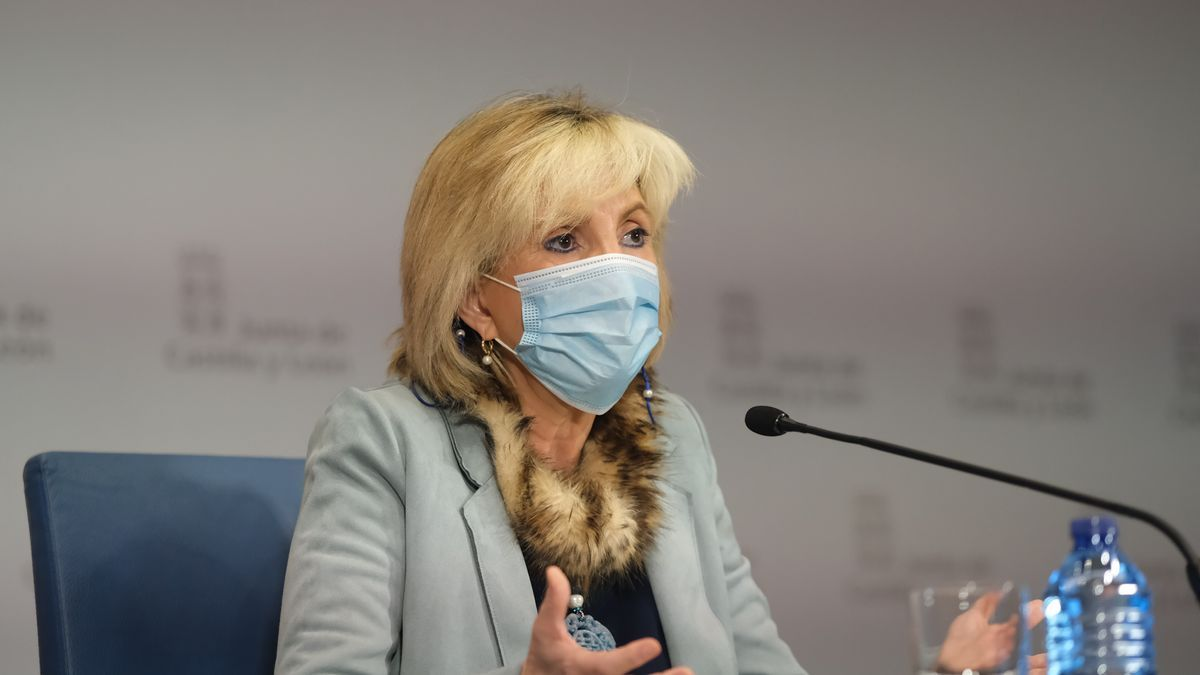 La consejera de Sanidad, Verónica Casado, en rueda de prensa.