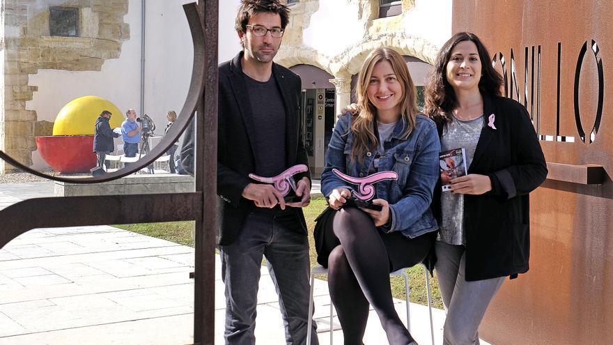 Marcos Díez, Isabel Giménez y Miriam Díaz han presentado, en la sede de la Fundación Santander Creativa, la programación del festival.