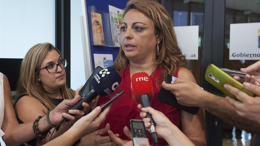 La consejera de Empleo y Políticas Sociales del Gobierno de Canarias, Cristina Valido