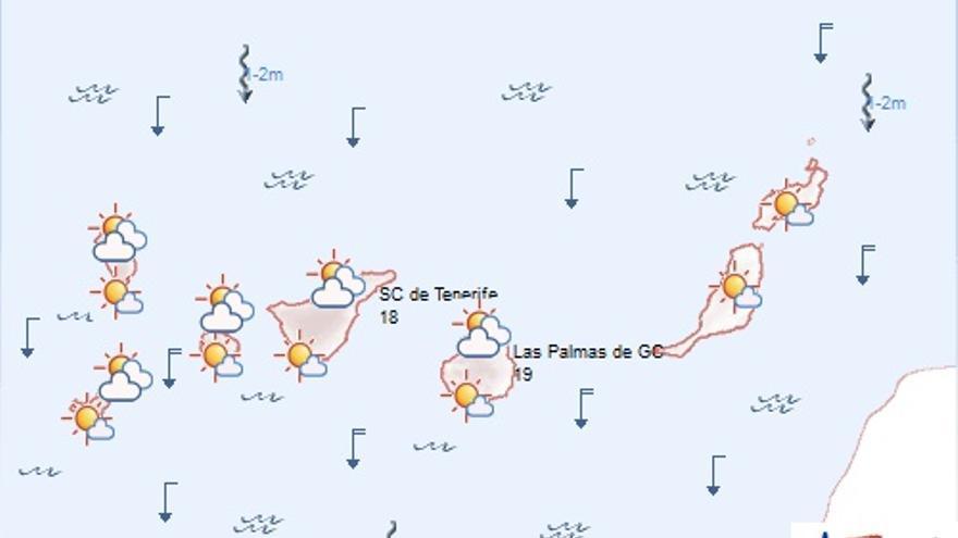 Previsión meteorológica para este sábado. (AEMET)
